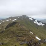 Beinn Ghlas summit visible at last.